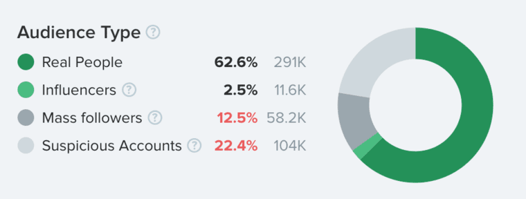 Audience Type in HypeAuditor