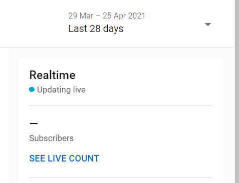 Real-time views in YouTube Analytics