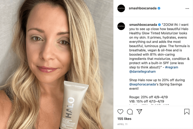Collaboration with an Instagram Influencer Example