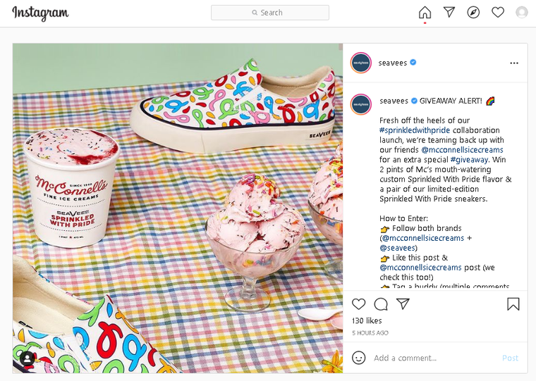 Engaging Content Ideas: Giveaway on Instagram