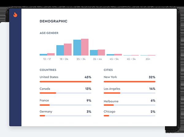 Influencer's Audience Demographics