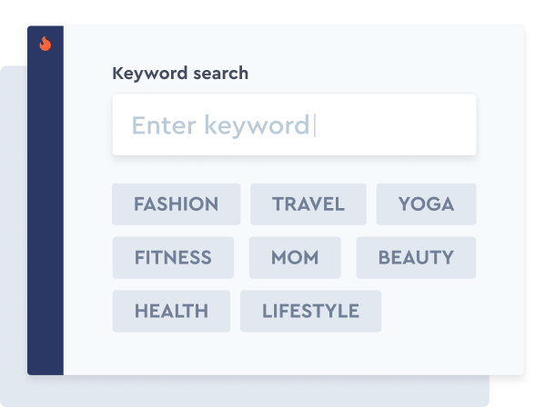 Search influencers by Keywords