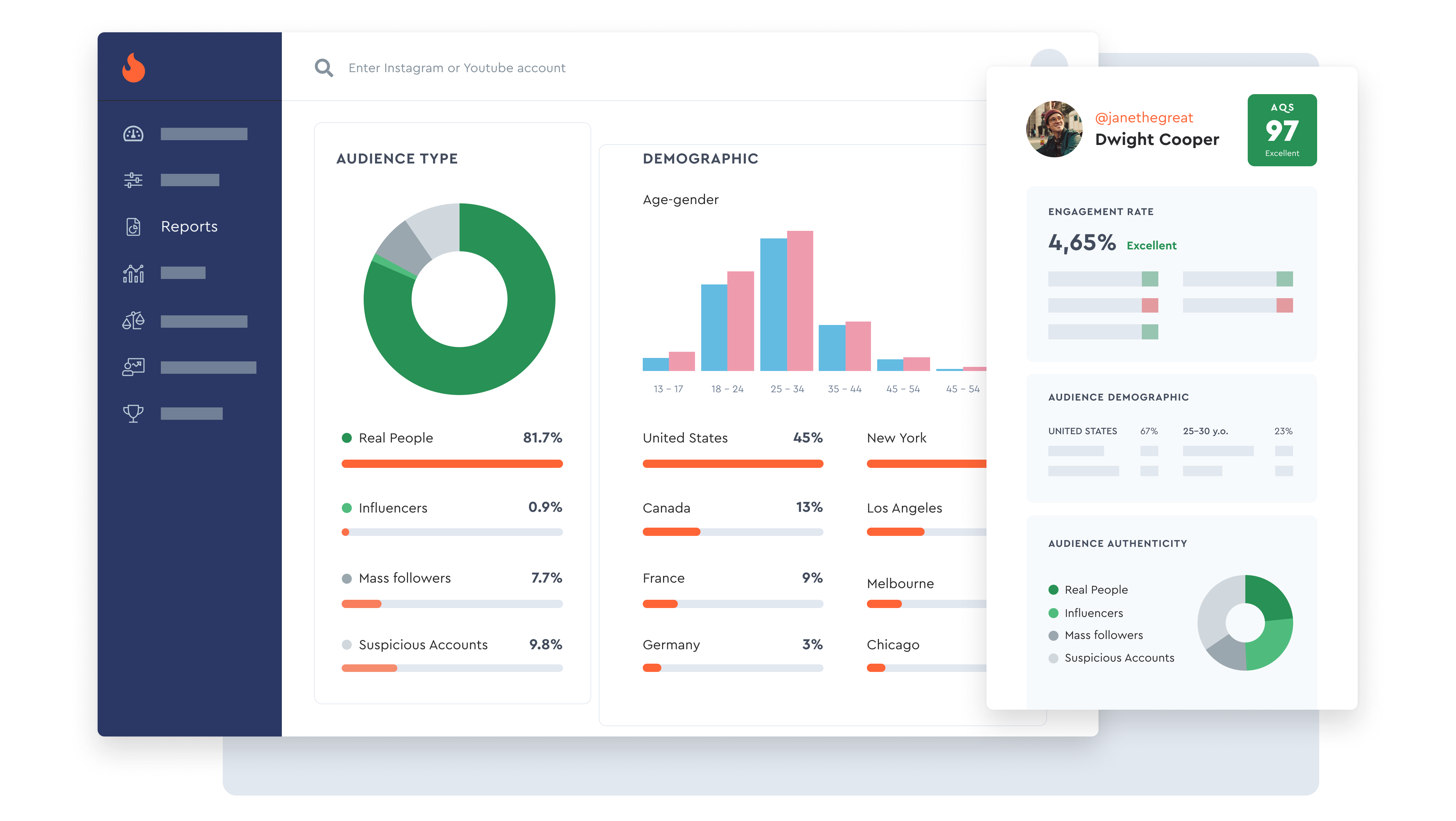 Instagram Analytical Reports