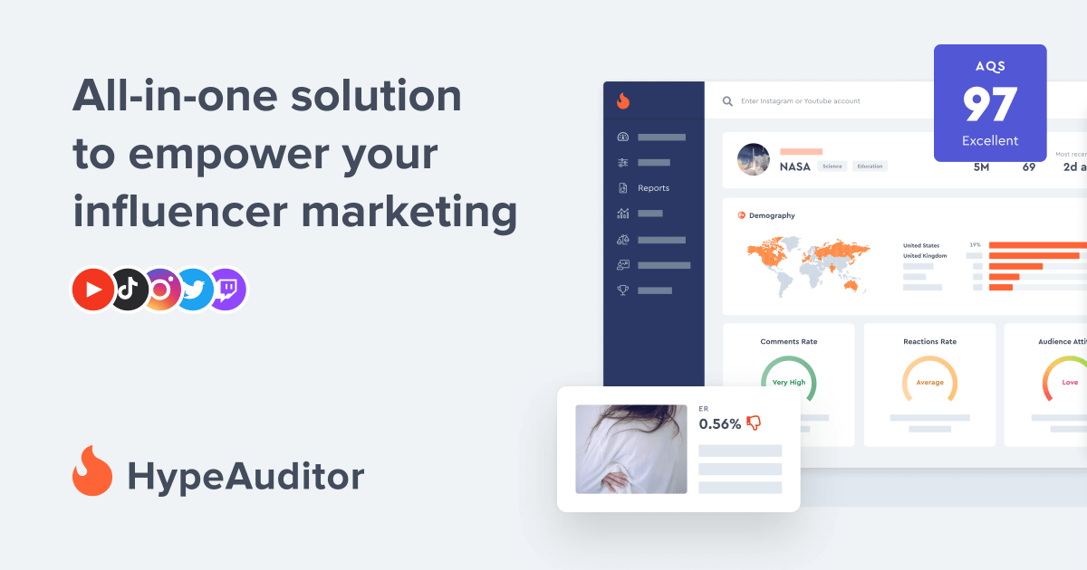100% AI-powered Instagram HypeAuditor | Сheck the influencer